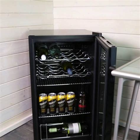 iceq  litre  counter glass door display fridge