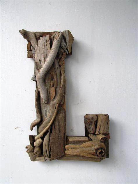large custom driftwood letterscoastal home