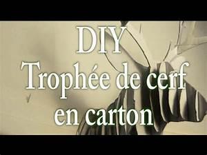 Tete De Cerf En Carton : diy troph e t te de cerf en carton maryxmas youtube ~ Teatrodelosmanantiales.com Idées de Décoration