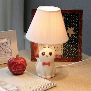 Cat, Resin, Cartoon, Small, Table, Lamp, Child, Table, Lamp, Bedroom, Bedside, Lamp, Table, Lamp