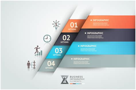 infographics origami template website templates