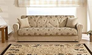 Melody yasemin sleeper sofa in beige chenille by sunset for Beige chenille sectional sofa