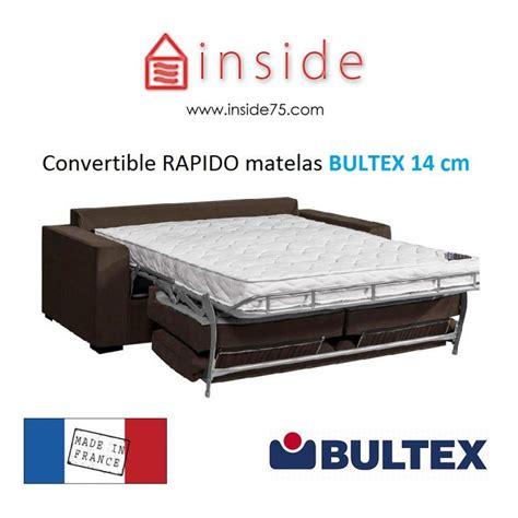 canapé lit matelas bultex canapé lit avec matelas bultex