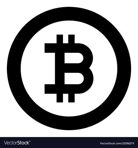 57 bitcoin vectors & graphics to download bitcoin 57. Bitcoin icon black color in circle round Vector Image