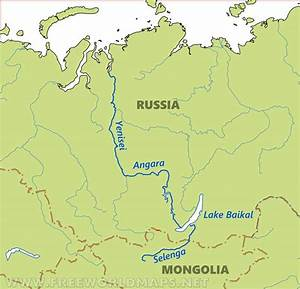 Russia Rivers Map