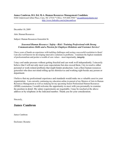 james cambron cover letter