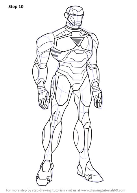 avengers earth s mightiest heroes coloring pages step by step how to draw iron man from the avengers