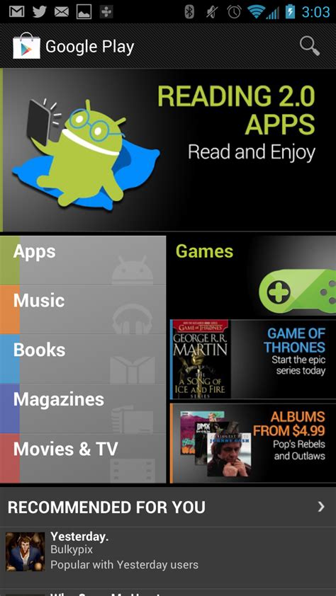 Leaked Screenshot Shows A Revamped Google Play Store For
