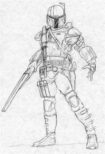 Mandalorian Coloring Pages Armor Deviantart Wars Star