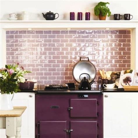 purple kitchen tiles kitchen splashbacks aga alcove and kitchens 1689
