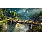 The Witcher 2 Assassins Of Kings Bridge River Forest