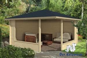 gartenhaus marit blockhaus 400x400 cm holzhaus 45mm With französischer balkon mit pavillon holz garten