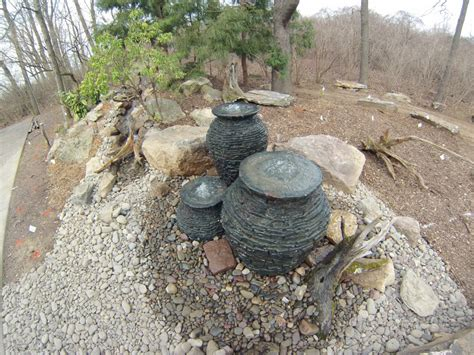 pondless fountains multiple bubbling urn fountain feature with pondless waterfall c e pontz sons landscape