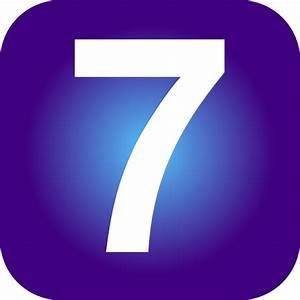 Number 7 Clip Art At Vector Clip Art Online
