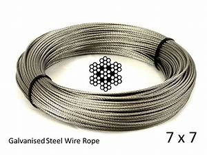 1 5mm 7x7 Galvanised Steel Wire Rope Marine Grade