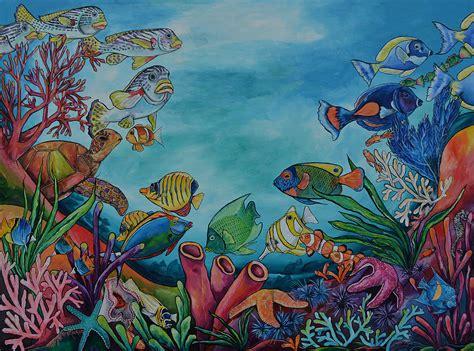 george melies underwater coral reef painting by patti schermerhorn