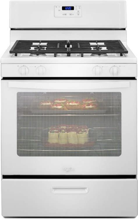 whirlpool   standing gas range wfgmb spencers tv appliances