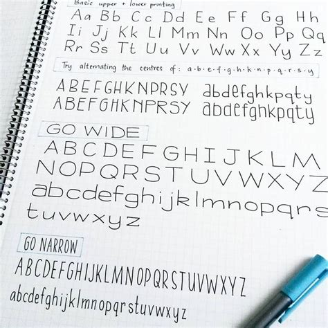 handwriting alphabet ideas  pinterest