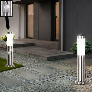 Leuchten Für Den Garten : 2er set set garten leuchten bewegungsmelder edelstahl lampen au en beleuchtung ebay ~ Sanjose-hotels-ca.com Haus und Dekorationen