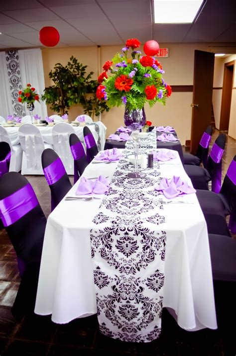 event black white spandex chair covers purple satin