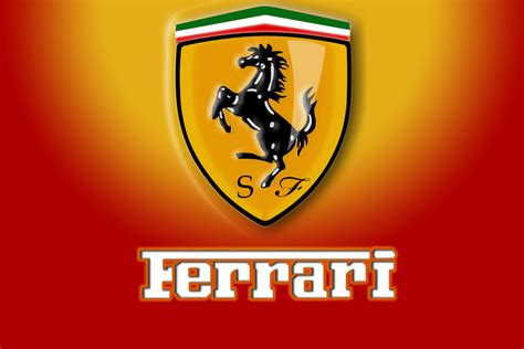 The black horse on a bright yellow background was not chosen by the ferrari logo takes on a rectangular shape. October » 2015