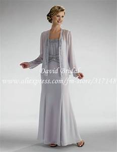 floor length sheath chiffon mother of the bride dresses With long jacket dresses for weddings