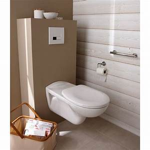 Dimension D Un Wc : coffrage pour wc suspendu habillage b ti support 60x125x30cm lux elements leroy merlin ~ Melissatoandfro.com Idées de Décoration