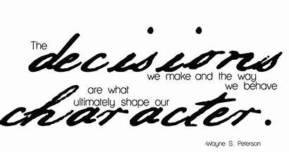 Decisions Character Shape