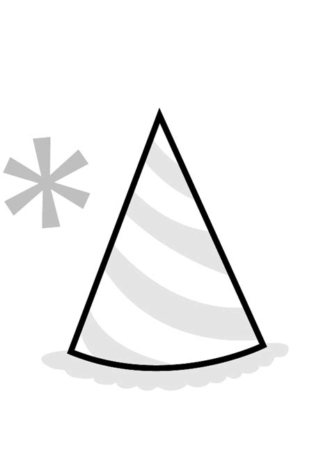 birthday hat clipart black and white pink hat clipart 62