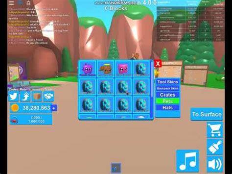 mining simulator  codes  legendaries roblox