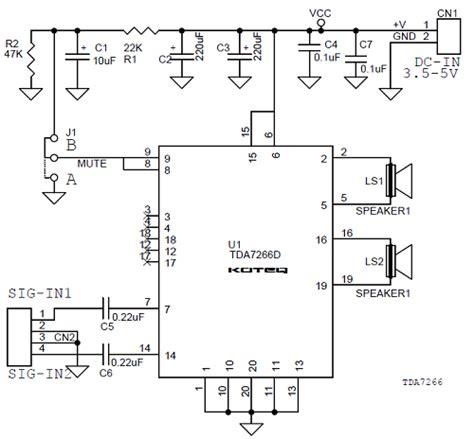 Stereo Audio Amplifier Based Tdad Polk