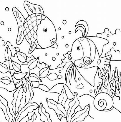 Ocean Coloring Pages Scene