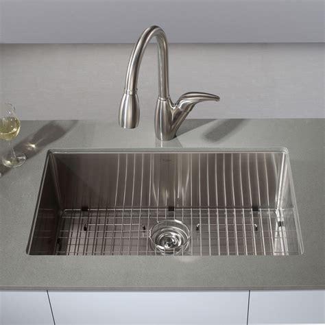 faucet placement for kitchen sink kraus khu100 30 kitchen sink stainless steel undermount