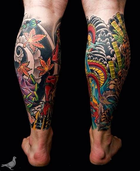 japanese dragon tattoo calf images  pinterest japanese dragon tattoos  tattoos