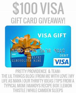 $100 Visa Gift Card Giveaway - Our Thrifty Ideas