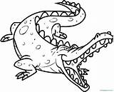 Alligator Coloring Pages Therapy sketch template