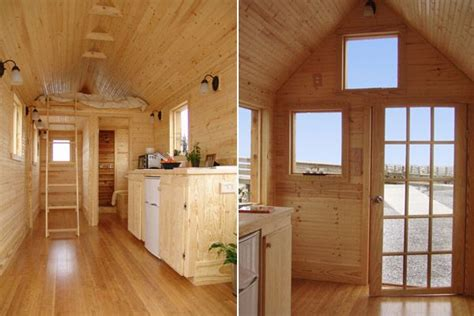 Luxurious Open Air Home Built For Two by Interior Of A Tiny House On Wheels I Would White Wash It