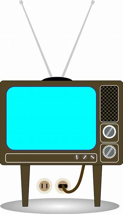 Tv Clip Clipart Television Retro Svg Cliparts