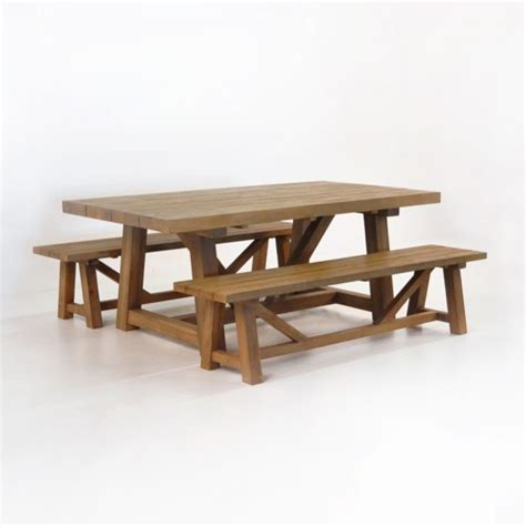 reclaimed teak dining table  benches teak warehouse