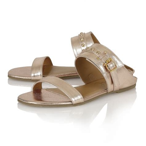 buy ravel san diego flat sandals in gold