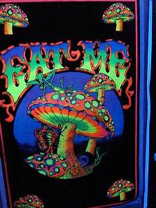 eat me   eat me mushroom black light poster ...