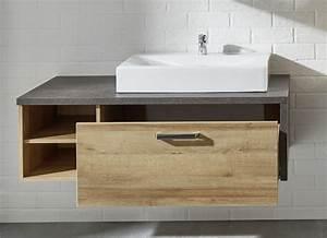 Möbel Für Aufsatzwaschbecken : trendteam badezimmer bay eiche m bel letz ihr online shop ~ Markanthonyermac.com Haus und Dekorationen