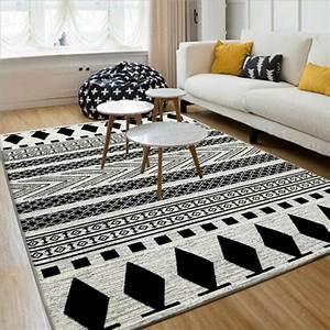 Tapis Scandinave Noir Et Blanc : noir blanc 130x190 cm europ enne moderne tapis et tapis de ~ Melissatoandfro.com Idées de Décoration