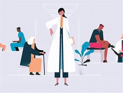 Strut Nurse Doctor Animation Dribbble Lady Walk
