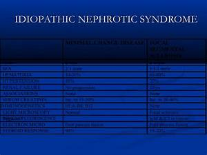 Nephrotic syndrome.