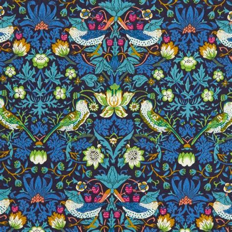 liberty of london tana lawn strawberry thief blue green
