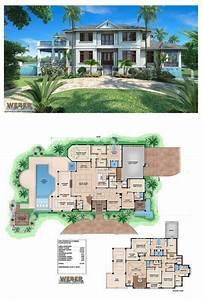 Caribbean House Plan: Contemporary Luxury Beach Home Floor ...