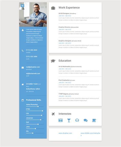 the best premium mateial website templates best 25 resume form ideas on pinterest creative cv