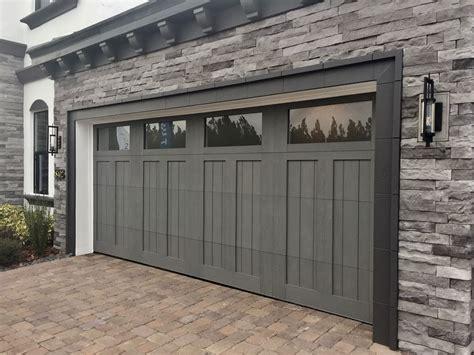 Garage Door Quieter by Gray Garage Door Clopay Ridge Collection Faux