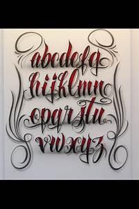 Airbrush Lettering Font - Fancy Script Lower Case ...